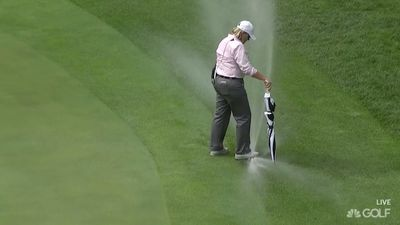 Solheim Cup USA v Europe match stopped after sprinklers go off