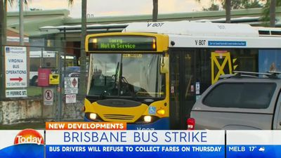 Brisbane bus drivers to strike on Thursday