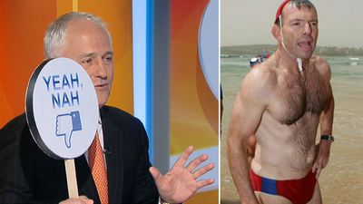 PM Malcolm Turnbull 'Yeah nahs' Tony Abbott's budgie smugglers