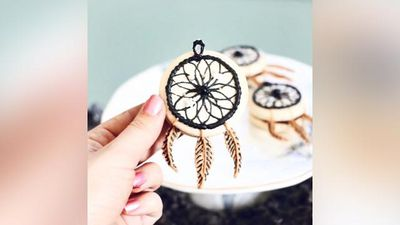Precision baker's dream catcher macs are the Boho dessert of your dreams