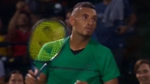 Kyrgios' nonchalant celebration