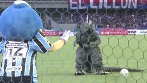 Godzilla in hilarious Japanese penalty skit