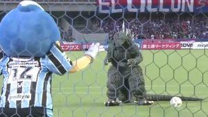 Godzilla in hilarious Japanese penalty skit
