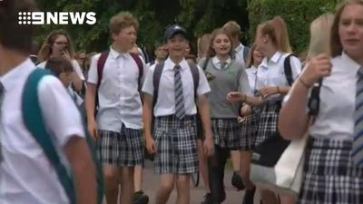 UK boys protest dress code in heatwave by wearing skirts