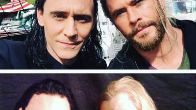 Hemsworth, Hiddleston and the hammer! Thor: Ragnarok stars' best Instagram photos from their Aussie shoot