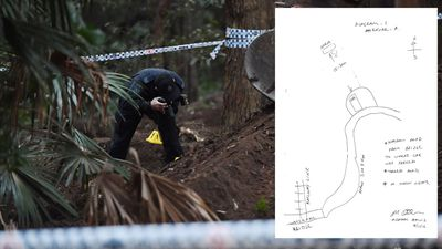 The crudely drawn map that led to Matthew Leveson's grave