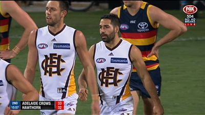 Hawks stun Crows in AFL