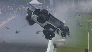 Dragracer somehow survives frightening crash
