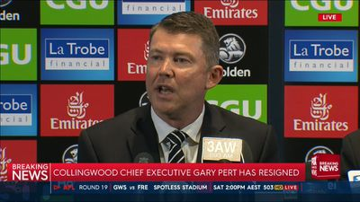 Gary Pert resigns as Collingwood Magpies chief executive