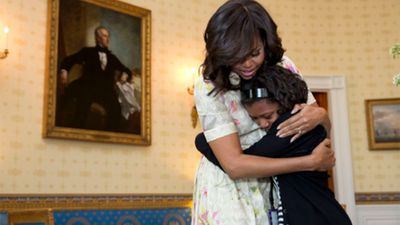 Michelle Obama is back on Twitter as 'hugger-in-chief'