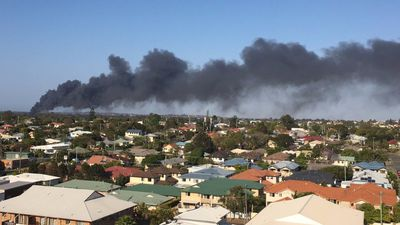 Toxic smoke billows from plastics factory blaze