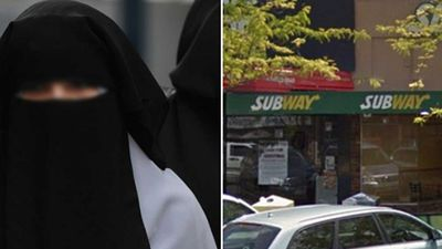 Robber in burqa allegedly holds up Subway restaurant