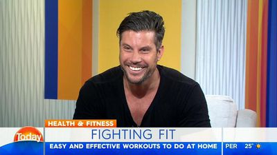 Erin Molan becomes Sam Wood's fitness 'stunt double' on TODAY