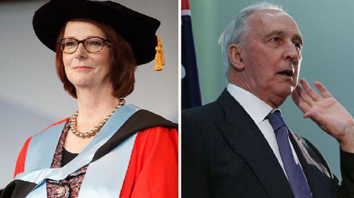 Julia Gillard's popularity sank, but not as far as Mr Keating's. (APP)