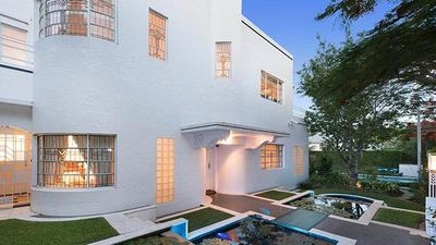 Heritage-listed art deco Brisbane home includes a secret air raid shelter