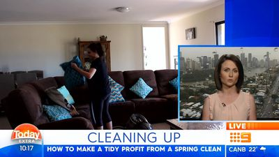 Mum makes $400 in an afternoon from spring clean