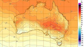 Temperatures across Australia as of 5am today. (Bureau of Meteorology)