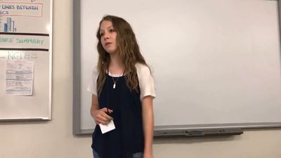Teenager's powerful speech about being popular goes viral