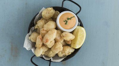 Crown Street Fish Shop's popcorn prawns