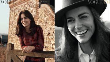 Kate Middleton posed for the UK Vogue cover. (Twitter / Kensington Royal)