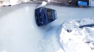 Stunt driver takes on Olympic bobsled track