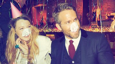Blake Lively throws Ryan Reynolds the sweetest 40th birthday party, complete with bunny masks and PDA