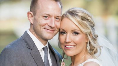 Domestic abuse survivor marries the man who rescued her