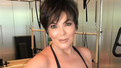 Kris Jenner is (possibly photoshopped) mom goals in new detoxing, bra-wearing Instagram