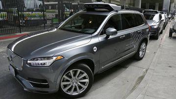 A self-driving Uber car in San Francisco. (AAP)