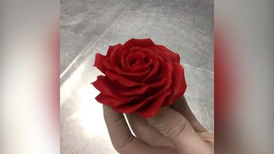 You'll never guess what this rose is made of, and it's delicious