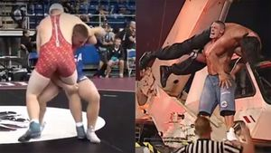 Wrestler mirrors superstar by dumping 100kg rival