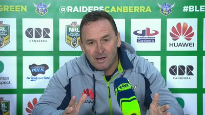 NRL: Canberra Raiders coach Ricky Stuart blasts refs after loss to Melbourne Storm
