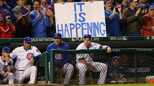 Cubs fans celebrate historic trip to world series