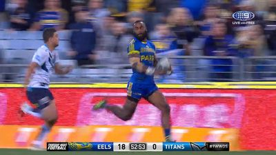 NRL Bunker misses crucial knock on then awards try to Parramatta Eels winger Semi Radradra