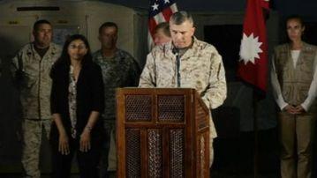 Lieutenant General John Wissler speaks about the chopper crash.