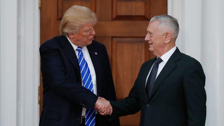 James Mattis selected as Trump's secretary of defense