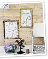 Gorgeous gilding - how to age new picture frames