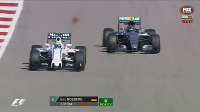 Rosberg on top after US F1 practice
