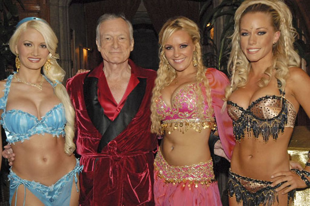 hugh hefner and girls