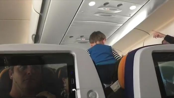 Video showing 'demonic child' screaming through 8 hour flight goes viral