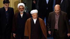 Former president of Iran, Akbar Hashemi Rafsanjani - (center). (AAP)
