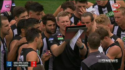 Collingwood ease pressure on coach Nathan Buckley after ending Geelong's unbeaten run in AFL