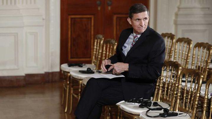 Mike Flynn before a press briefing. (AP)