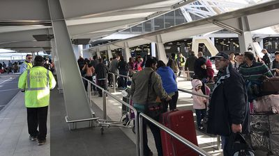 Travellers stranded at Adelaide Airport as taxi drivers strike
