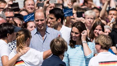 William and Kate face off in boat race during Germany tour