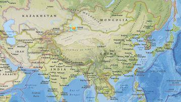The earthquake struck Xinjiang, in western China. (USGS)