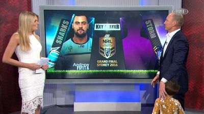 Lockyer's son wanders onto set during live Footy Show