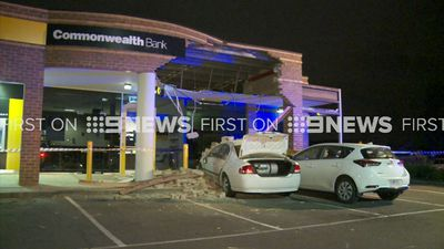 Driver's bad park destroys Commonwealth Bank branch