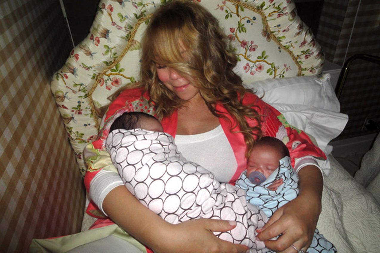 See Mariah Carey's Photoshop Fail - and Thanksgiving Pics Nick cannon and mariah carey twins baby pictures