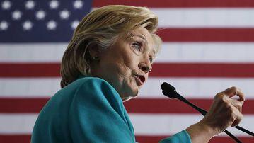 Hillary Clinton at a campaign event in Reno, Nevada. (AP)